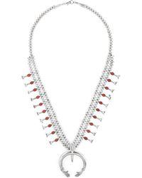 Estate Fine Jewelry - Vintage Coral Squash Blossom Necklace - Lyst