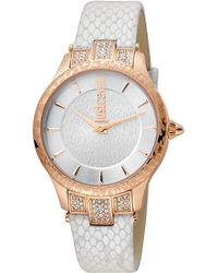 Just Cavalli - Animal Chantilly Leather Watch, 34mm - Lyst