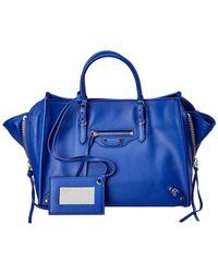 90f4520743 Lyst - Balenciaga Papier Plate Side-Zip Bucket Bag in Black