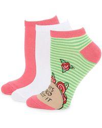 Betsey Johnson - Six-pack Guacamole Low Cut Socks - Lyst