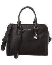 Alexander McQueen - Padlock Small Leather Tote - Lyst