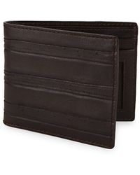 Lyst ermenegildo zegna textured leather business card holder in john varvatos clawed textured leather bi fold wallet lyst reheart Images