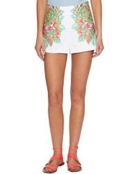 Mara Hoffman - Cotton Floral Embroidered Short - Lyst