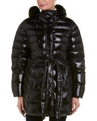 Moncler - Belted Puffer Coat - Lyst