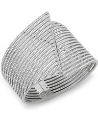 Adriana Orsini - Tiered Crystal Wave Cuff Bracelet - Lyst