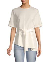 Lea & Viola - Short-sleeve Asymmetrical Top - Lyst