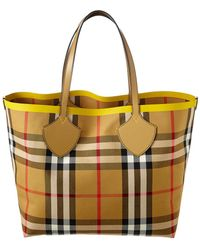 Burberry - The Large Giant Tote In Color Block Check - Lyst