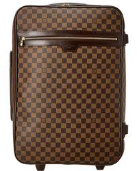 Louis Vuitton Damier Ebene Canvas Pegase 60 - Brown