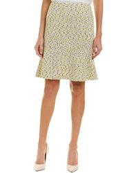 St. John - Wool-blend Pencil Skirt - Lyst