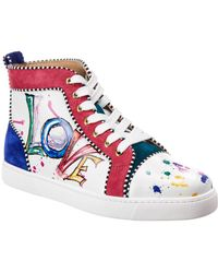 Christian Louboutin - Orlato Leather Love High Top Sneakers - Lyst
