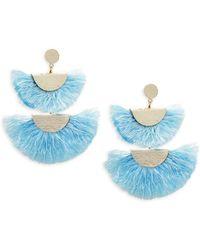 Panacea - Double Fan Statement Earrings - Lyst