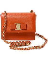 02ef4c74dbd3 Ferragamo - Ginny Mini Leather Crossbody - Lyst