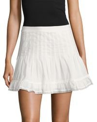 Dolce Vita - Tracey Lace Trimmed Flare Skirt - Lyst