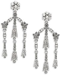 Oscar de la Renta - Crystal Chandelier Earrings - Lyst