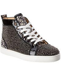 Christian Louboutin Louis Orlato Studded Patent Sneaker