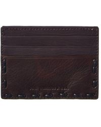 John Varvatos - Star U.s.a. Marble Stained Leather Card Holder - Lyst