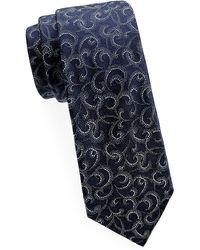 Saks Fifth Avenue - Tonal Swirl Silk Tie - Lyst