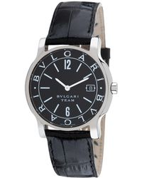 BVLGARI - Bulgari Unisex Solotempo Leather Watch - Lyst
