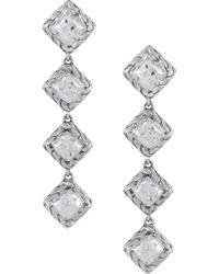 John Hardy - Palu Silver Four Square Drop Earrings - Lyst