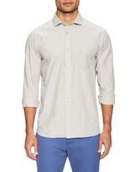 Color Siete - Victorville Cotton Mini-checked Sportshirt - Lyst