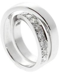 Cartier - Cartier 18k 1.00 Ct. Tw. Diamond Nouvelle Vague Size 6.5 Ring - Lyst