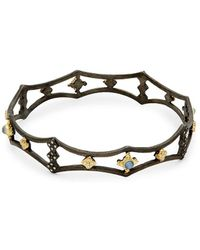 Armenta - Old World Diamond Cutout Bangle Bracelet - Lyst