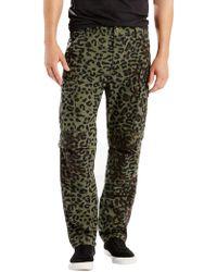 Levi's - Skate Buell Burnt Olive Print Cargo Pants - Lyst