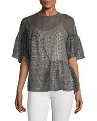 Stella McCartney - Graphic Silk Shirt - Lyst