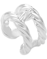 Hermès - Textured Silver Ring - Lyst