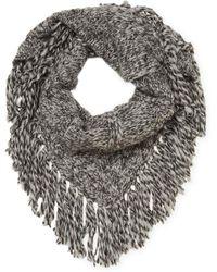 M.Patmos - Fringed Merino Wool Shawl - Lyst
