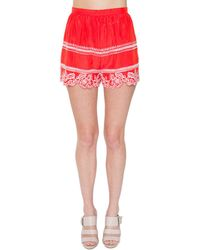 Sugarlips Colleen Embroidered Short