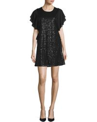 Laundry by Shelli Segal - Sequined Crewneck Dress - Lyst
