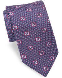 Ike Behar - Geometric Patterned Silk Tie - Lyst