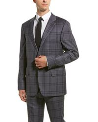 Hickey Freeman - 2pc Milburn Ii Wool Suit With Flat Pant - Lyst