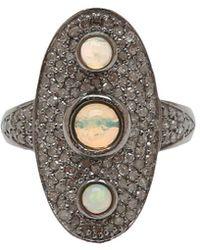 Adornia - Fine Jewelry Silver Opal Ring - Lyst