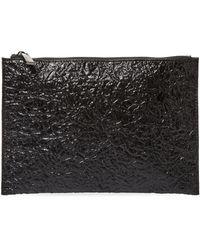 Deux Lux - Crinkle Metallic Pouch Bag - Lyst