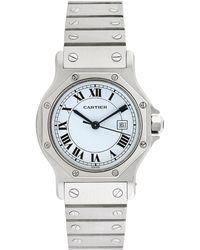 Cartier - Cartier 1990s Women's Santos Octagon Watch - Lyst