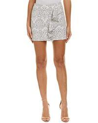 Maje Jacquard Pencil Skirt - White