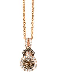 Le Vian - Chocolatier Diamond And 14k Strawberry Gold Pendant Necklace - Lyst