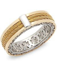 Alor - 18k Yellow Gold Cable Stainless Steel Ring - Lyst