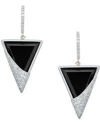 Lana Jewelry - Flawless 14k White Gold Triangular Drop Earrings - Lyst