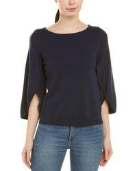 MILLY - Butterfly Sleeve Wool-blend Sweater - Lyst