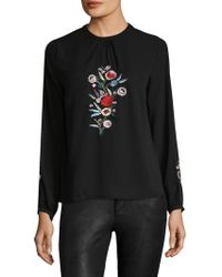 Zoe & Sam - Embroidery Blouse - Lyst