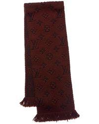 Louis Vuitton Brown Wool & Silk-blend Muffler
