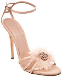Giuseppe Zanotti - Feather Applique Sandals - Lyst