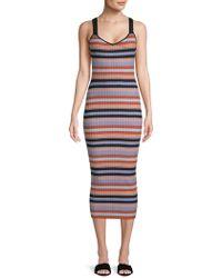 Torn By Ronny Kobo   Yaela Striped Midi Dress   Lyst