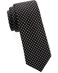 Saks Fifth Avenue - Polka Dot Silk Tie - Lyst