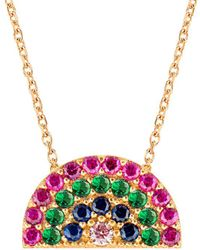 Gabi Rielle - 22k Over Silver Cz Rainbow Necklace - Lyst