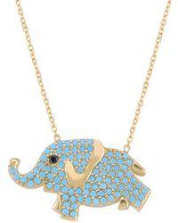 Gabi Rielle - Gold Over Silver Cz Elephant Necklace - Lyst
