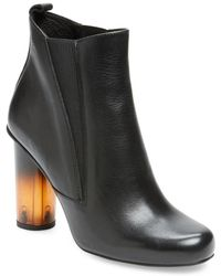 Pure Navy - Lumasin Leather Bootie - Lyst